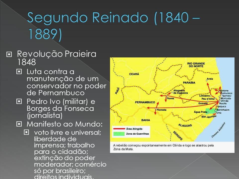 Segundo Reinado (1840 – 1889) Revolução Praieira 1848