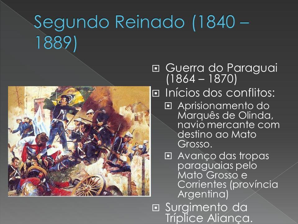 Segundo Reinado (1840 – 1889) Guerra do Paraguai (1864 – 1870)