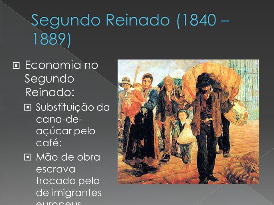 Segundo Reinado (1840 – 1889) Economia no Segundo Reinado: