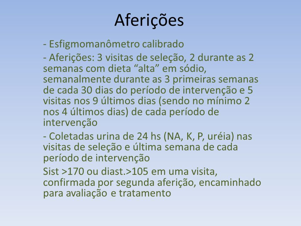 Aferições - Esfigmomanômetro calibrado