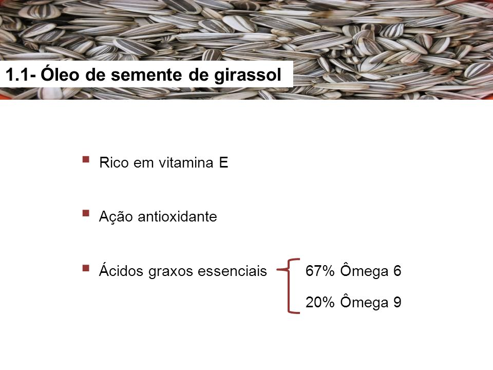 1.1- Óleo de semente de girassol