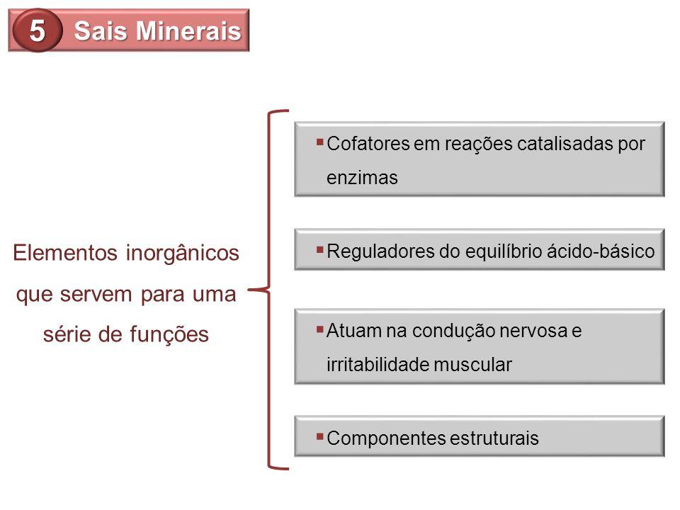 Elementos inorgânicos que servem para uma série de funções