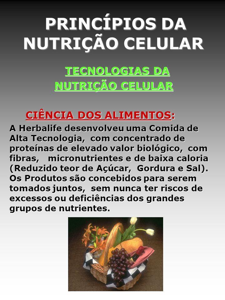 PRINCÍPIOS DA NUTRIÇÃO CELULAR