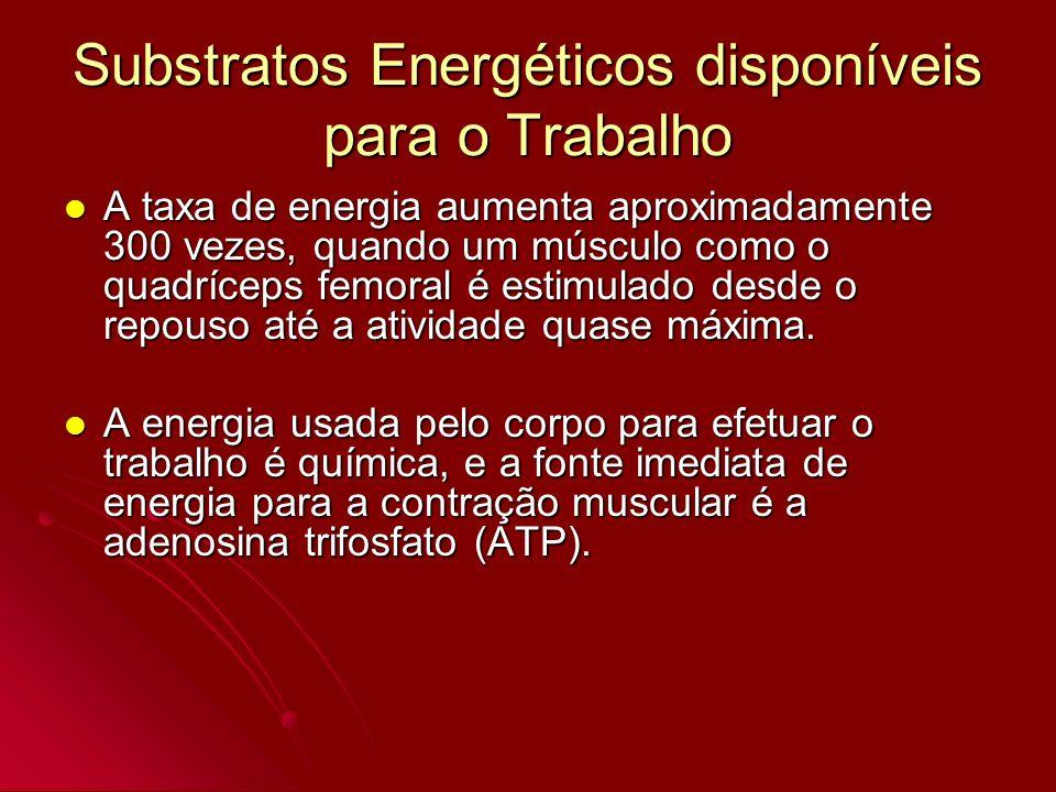 Substratos Energéticos disponíveis para o Trabalho