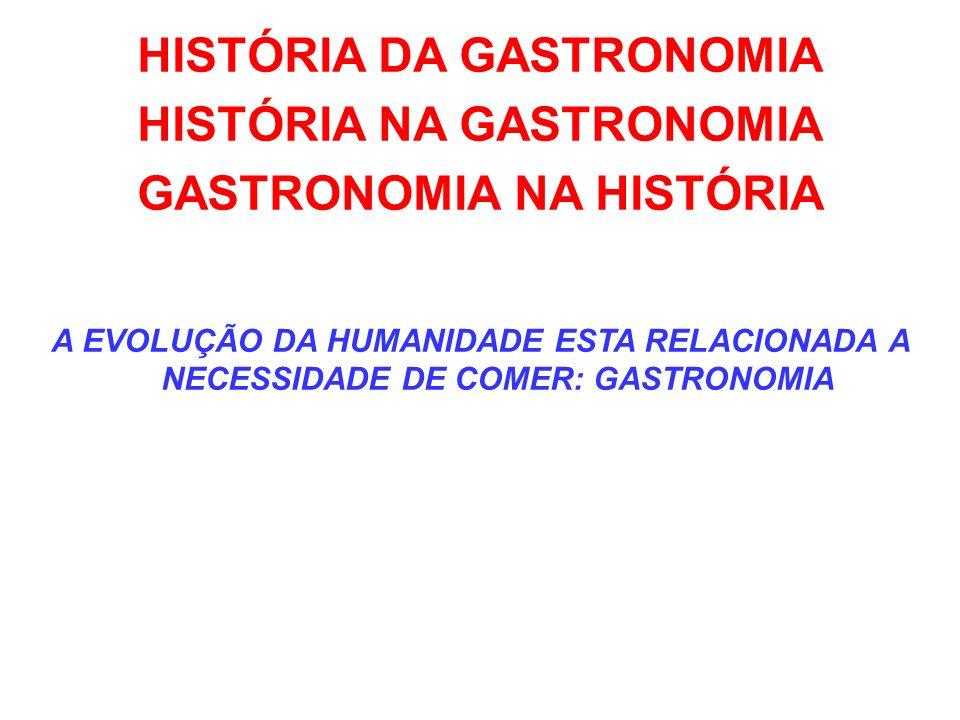 HISTÓRIA DA GASTRONOMIA HISTÓRIA NA GASTRONOMIA