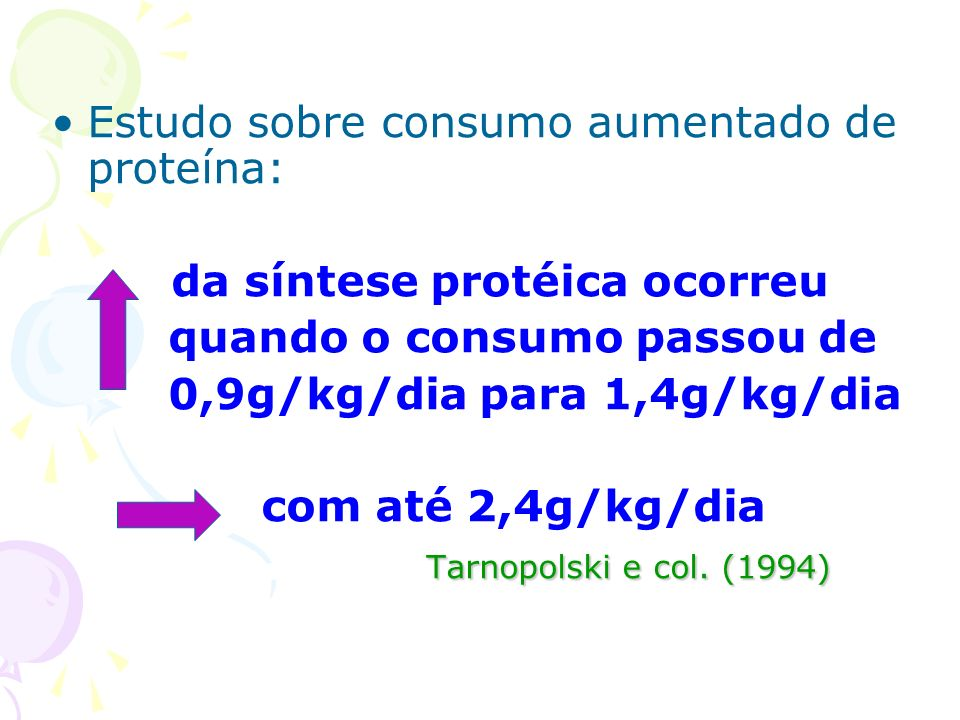 Estudo sobre consumo aumentado de proteína: