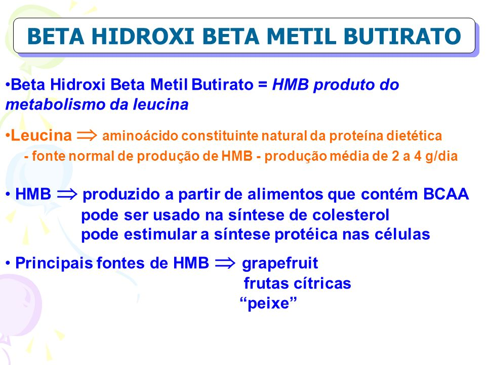 BETA HIDROXI BETA METIL BUTIRATO