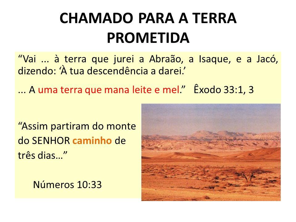 CHAMADO PARA A TERRA PROMETIDA