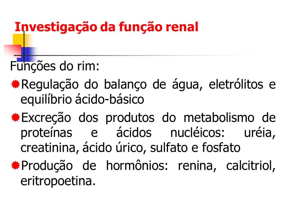Investigação da função renal