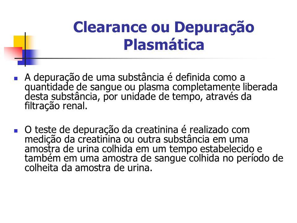 Clearance ou Depuração Plasmática