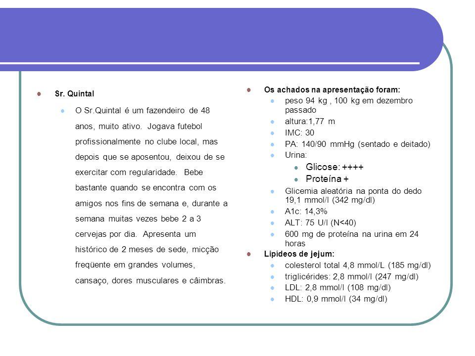Glicose: ++++ Proteína + peso 94 kg , 100 kg em dezembro passado