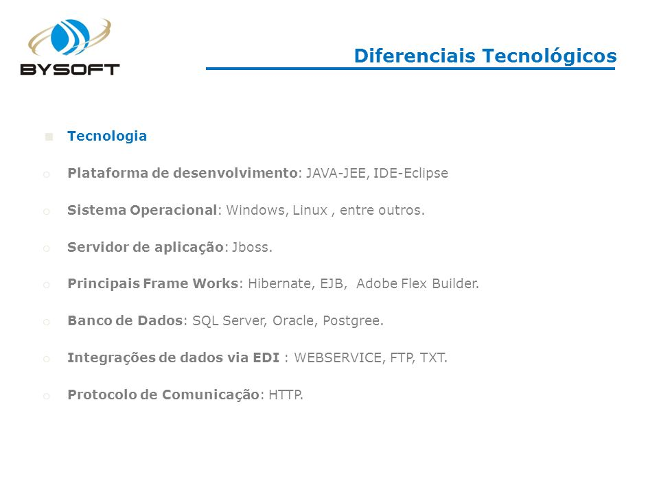 Diferenciais Tecnológicos