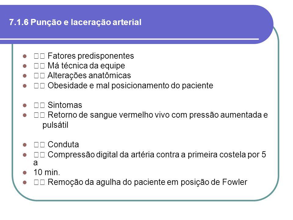 7.1.6 Punção e laceração arterial