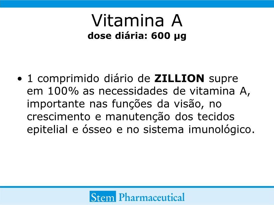 Vitamina A dose diária: 600 µg