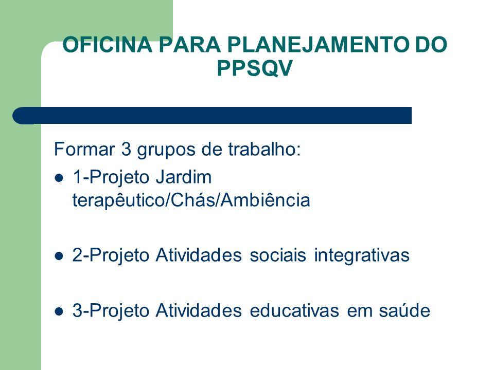 OFICINA PARA PLANEJAMENTO DO PPSQV