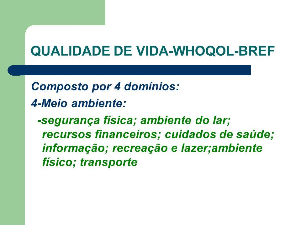 QUALIDADE DE VIDA-WHOQOL-BREF