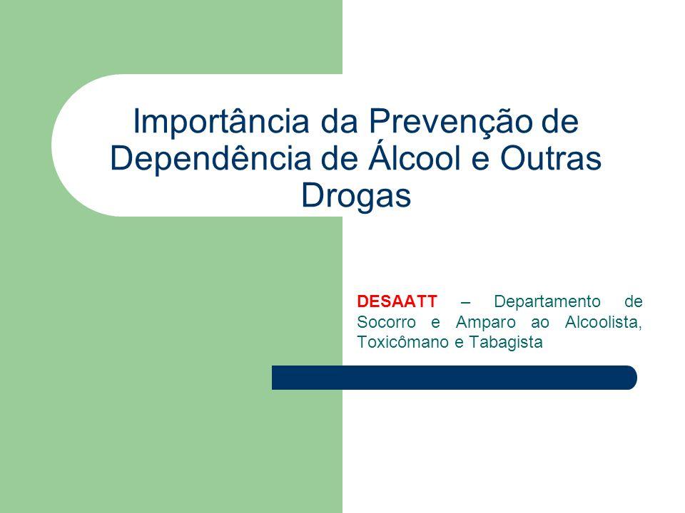 Importância da Prevenção de Dependência de Álcool e Outras Drogas