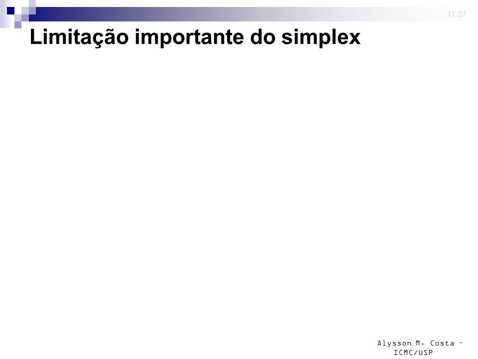 Limitação importante do simplex