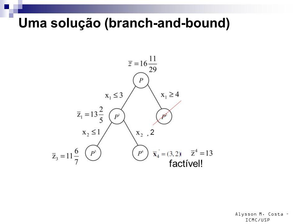 Uma solução (branch-and-bound)