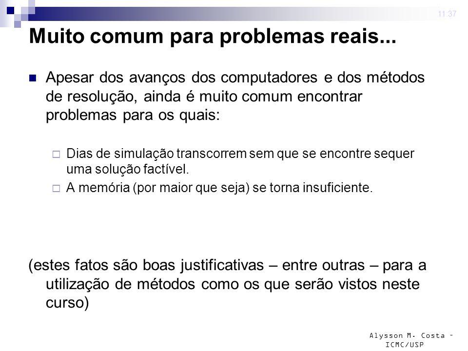 Muito comum para problemas reais...