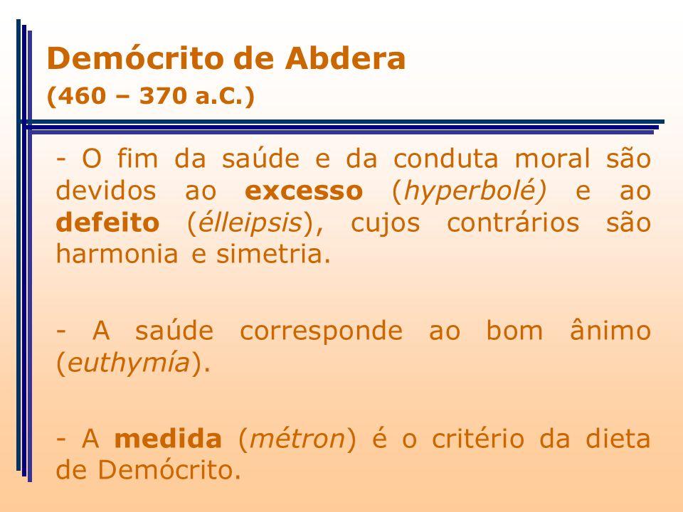 Demócrito de Abdera (460 – 370 a.C.)