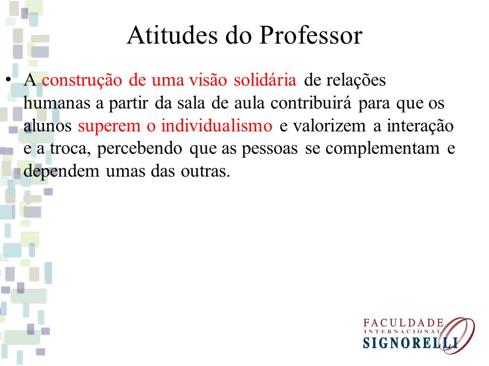 Atitudes do Professor