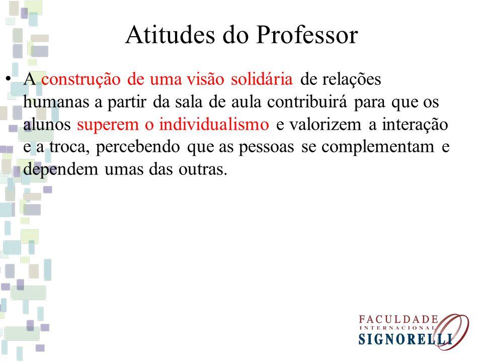 Atitudes do Professor