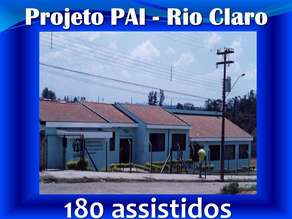 Projeto PAI - Rio Claro Rio Claro 180 assistidos