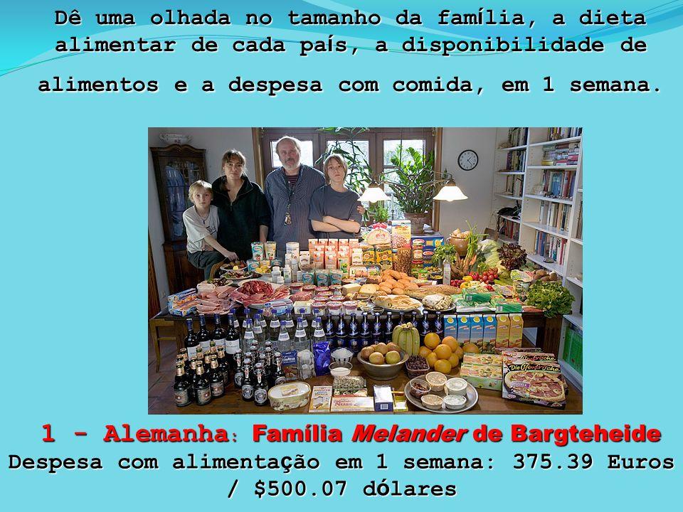 Despesa com alimentação em 1 semana: 375.39 Euros / $500.07 dólares