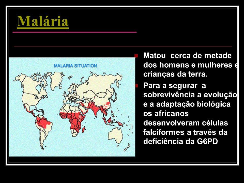 Malária Matou cerca de metade dos homens e mulheres e crianças da terra.