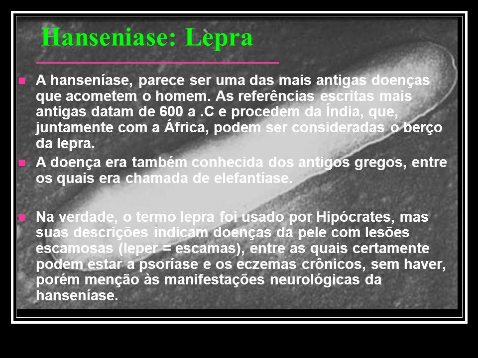 Hanseniase: Lepra