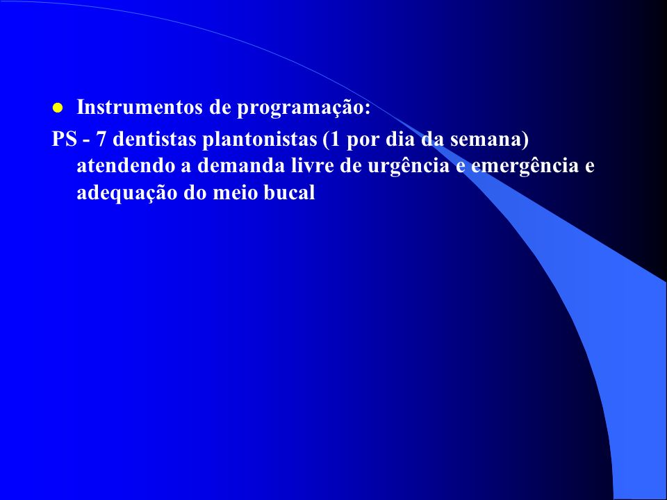 Instrumentos de programação: