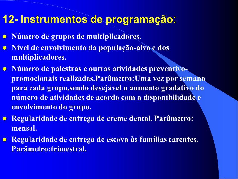12- Instrumentos de programação: