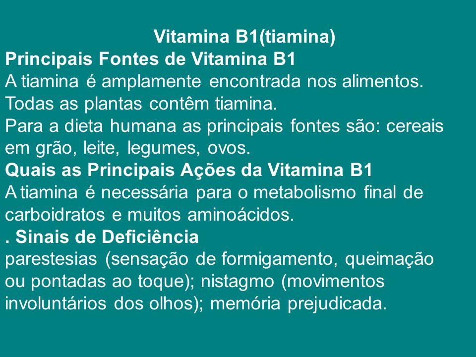 Vitamina B1(tiamina)