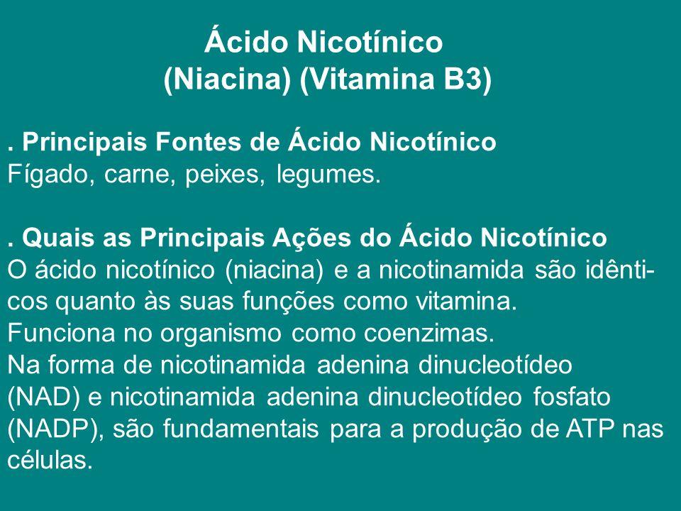 Ácido Nicotínico (Niacina) (Vitamina B3)