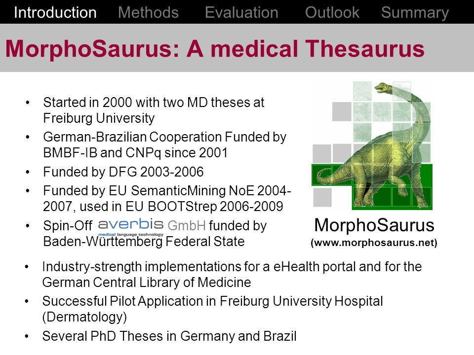 MorphoSaurus: A medical Thesaurus