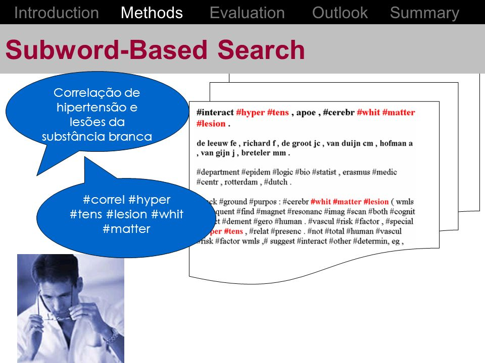 Subword-Based Search Introduction Methods Evaluation Outlook Summary