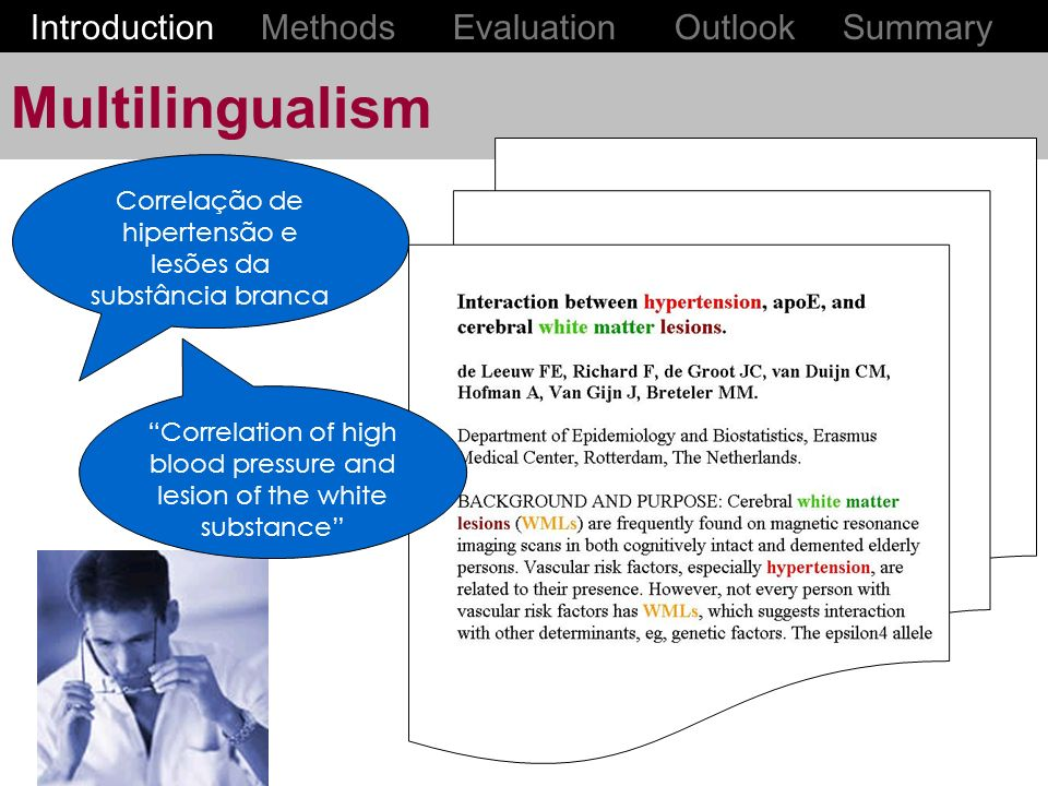 Multilingualism Introduction Methods Evaluation Outlook Summary