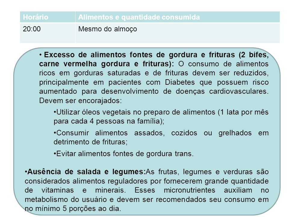 Evitar alimentos fontes de gordura trans.