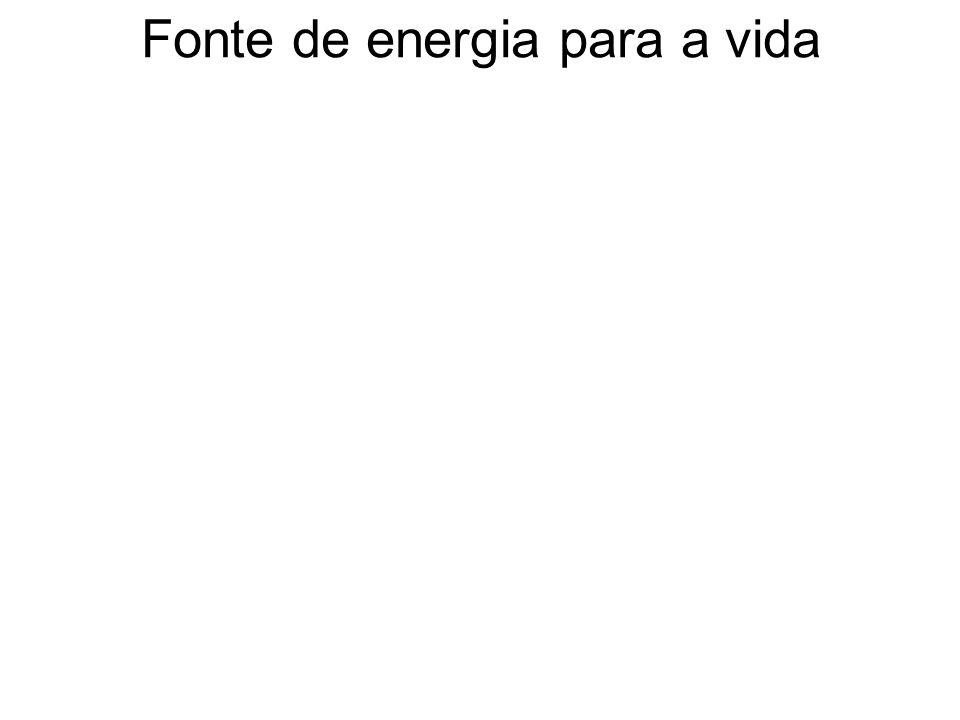 Fonte de energia para a vida