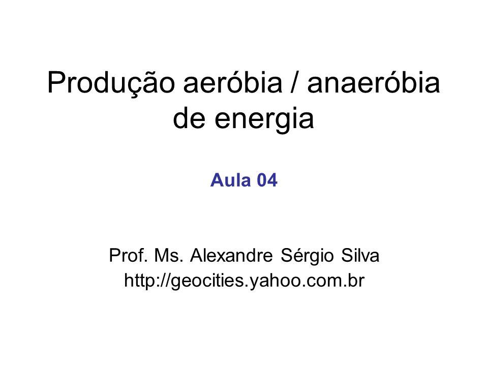 Produção aeróbia / anaeróbia de energia