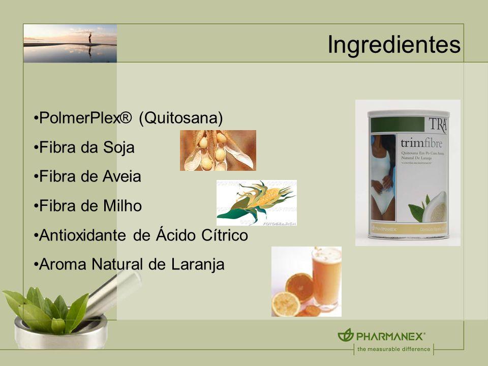 Ingredientes PolmerPlex® (Quitosana) Fibra da Soja Fibra de Aveia