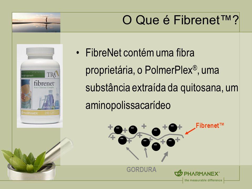 O Que é Fibrenet™ FibreNet contém uma fibra proprietária, o PolmerPlex®, uma substância extraída da quitosana, um aminopolissacarídeo.