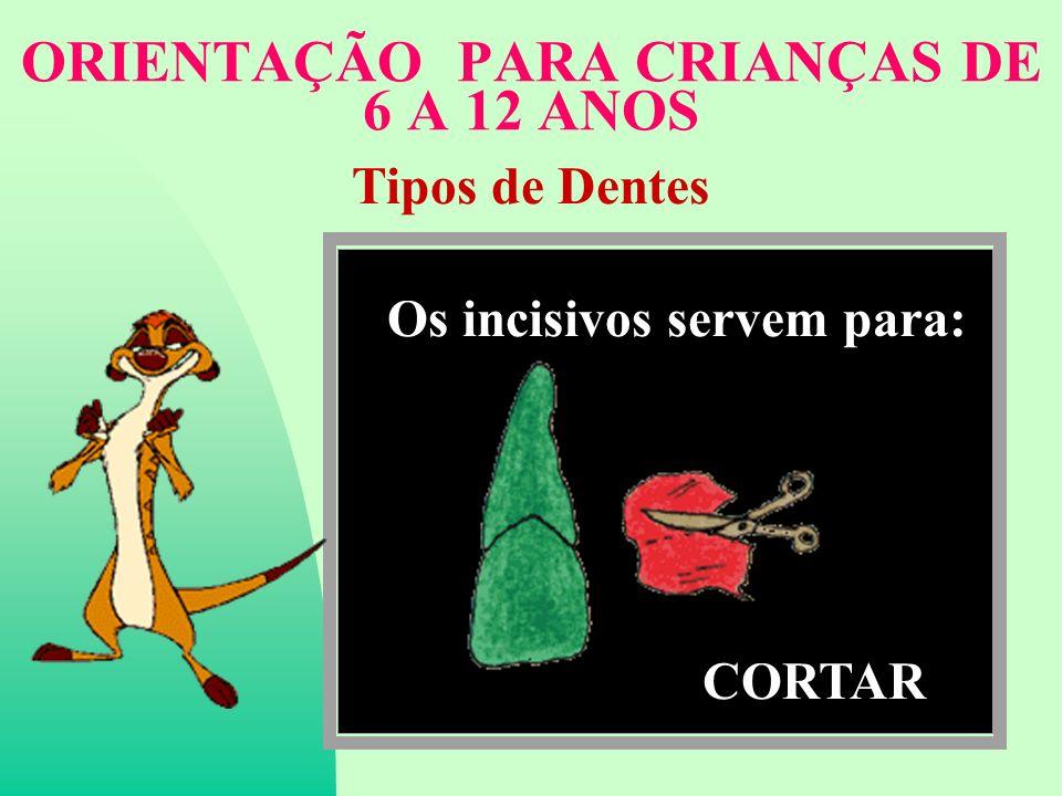 ORIENTAÇÃO PARA CRIANÇAS DE 6 A 12 ANOS