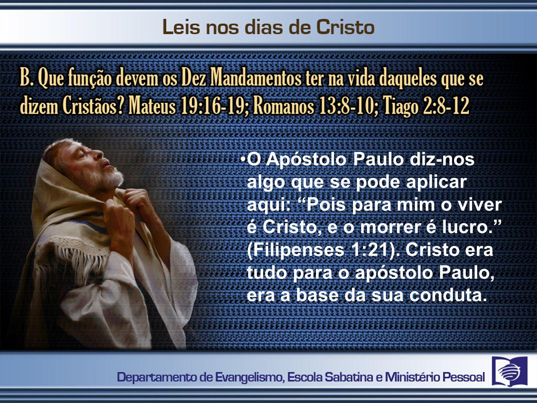 O Apóstolo Paulo diz-nos algo que se pode aplicar aqui: Pois para mim o viver é Cristo, e o morrer é lucro. (Filipenses 1:21).