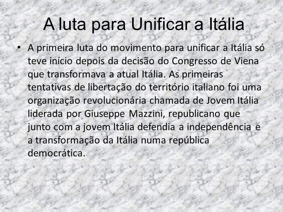 A luta para Unificar a Itália