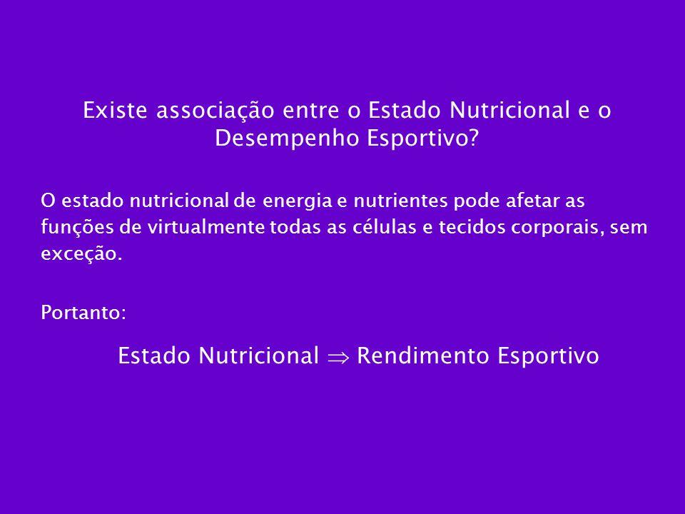 Existe associação entre o Estado Nutricional e o Desempenho Esportivo