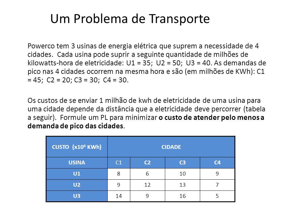 Um Problema de Transporte