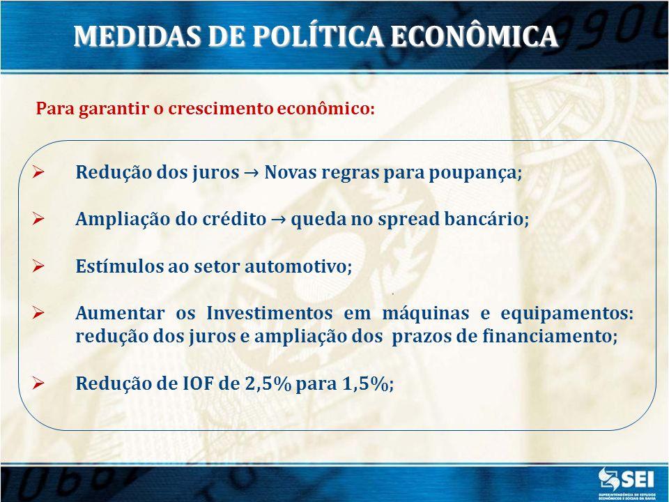 MEDIDAS DE POLÍTICA ECONÔMICA Para garantir o crescimento econômico: