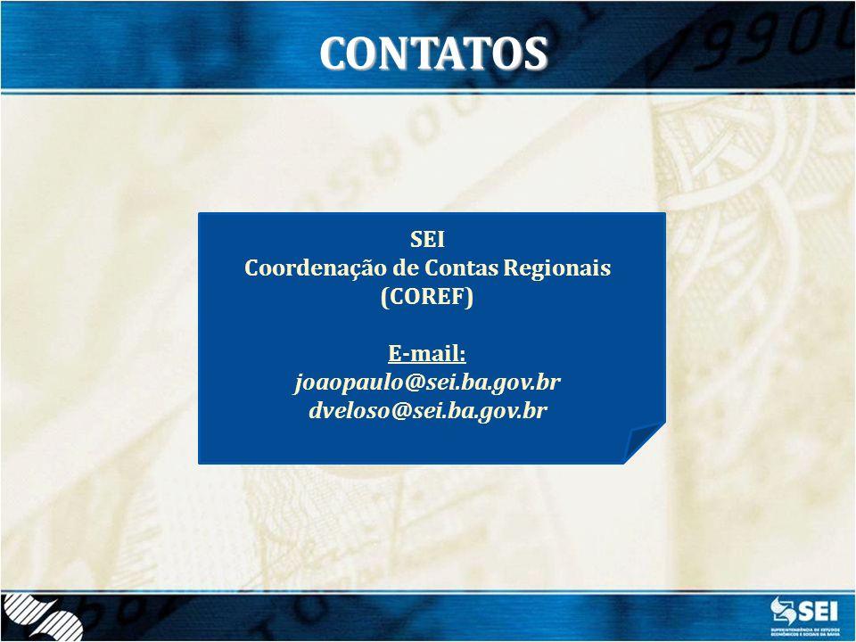 Coordenação de Contas Regionais (COREF)